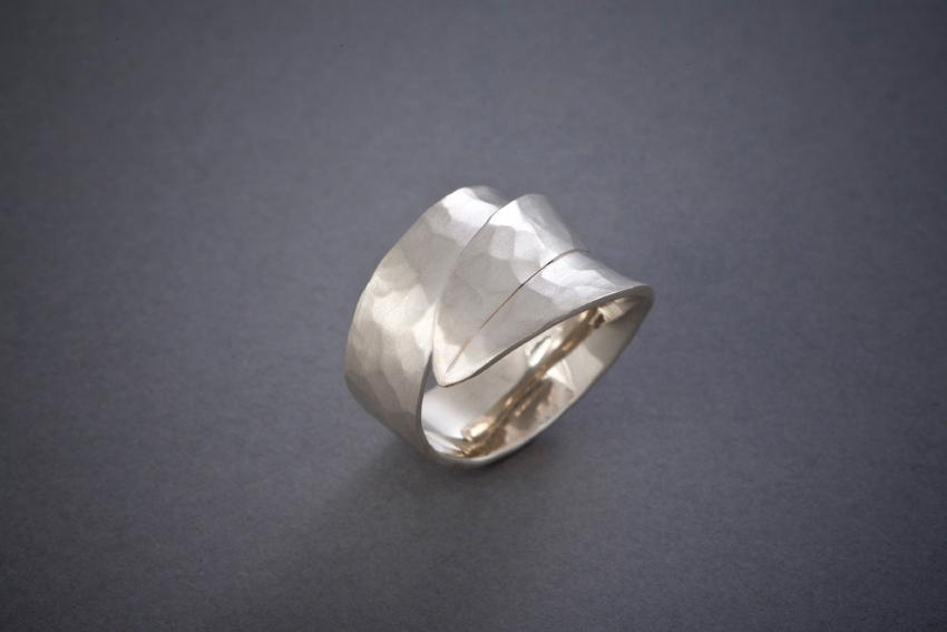 010 Blattring, Silber, geschmiedet, ab € 168,-