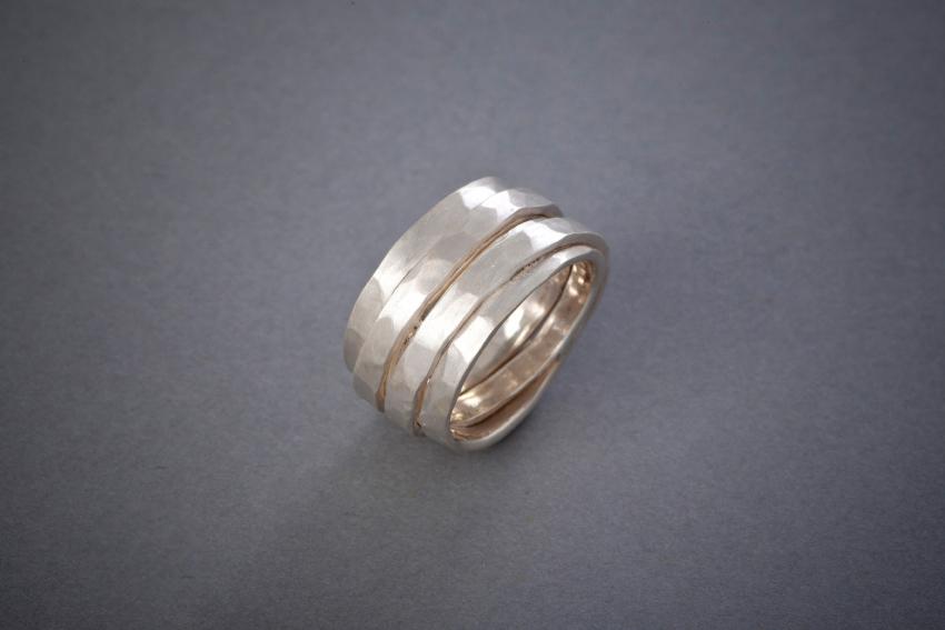 009 Wickelring, Silber, geschmiedet, ab € 138,-