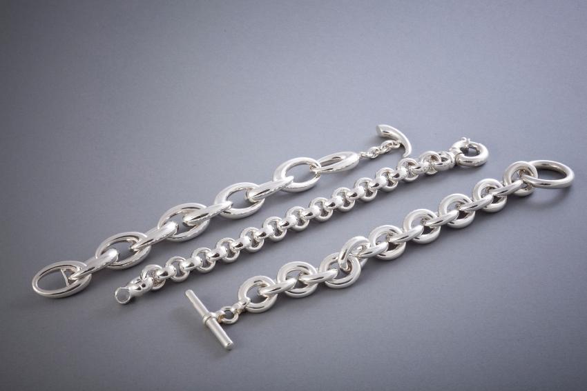 071 Silberarmbänder, poliert ab € 268,-
