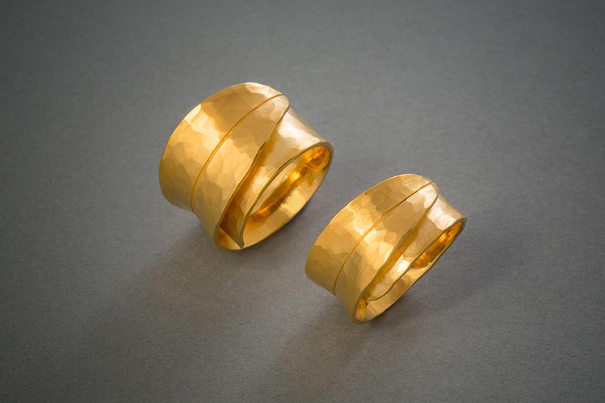 116 Blattringe, Gold, geschmiedet € 1118,- € 1058,-