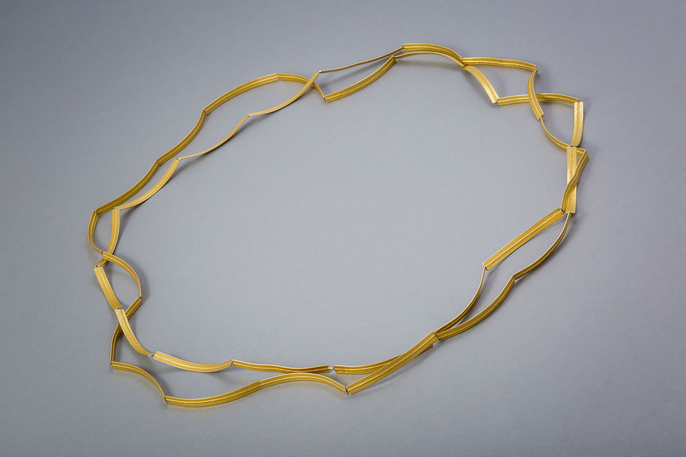 034 Wellenkette, Silber vergoldet ab € 364,-